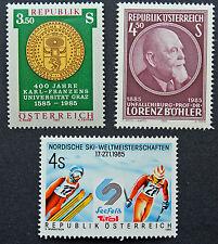 AUTRICHE timbre - Yvert et Tellier n°1628 à 1630 n** stamp Austria (cyn5)