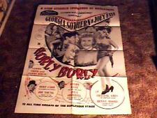 HURLY BURLY MOVIE POSTER 1953 STRIPTEASE BURLESQUE