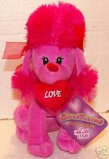 """Pink Poodle Dog Plush! 10"""" Tall! New by Sugar Loaf!"""