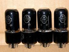 4x 6P6S / 6V6 / 6AY5 / 587 Tubes NOS 1970'x same codes