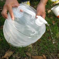 3L Folding Outdoor Camping Handle Collapsible Water Bucket Bottle Container new