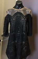 INDIKAH Dress 10 Black Boho  cocktail party wedding Beuatiful BNWT