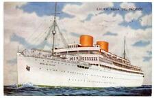 1954   RMMV REINA DEL PACIFICO Pacific Steam Navigation Co   Ship Postcard