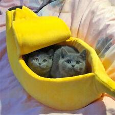Banana Shape Mini Pet Puppy Cat Sleeping Bed House Mat Kennel Doggy Cushion M