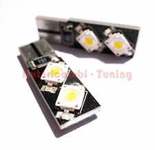 COPPIA LAMPADINE 12V T10 4 LED TIPO 7060 SMD CANBUS LUCE BIANCA