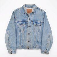 Vintage LEVI'S Orange Tab Blue 90s Cotton Casual Denim Jacket Mens M