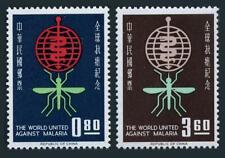 Taiwan 1342-1343, MNH. Michel 457-458. WHO drive to eradicate Malaria, 1962.