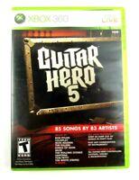 Guitar Hero 5 (Microsoft Xbox 360, 2009) CIB Complete