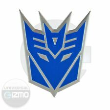 Transformers Decepticon Car and Window Aluminum Emblem - Blue