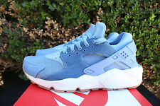 NIKE WOMENS AIR HUARACHE RUN SZ 6 DENIM GUM DECEMBER SKY BLUE GOLD 859429 402