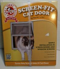 "Ideal Screen Fit Cat Dog Pet Door Window Screen Door Flap Grey 9.75"" x 10.5"""