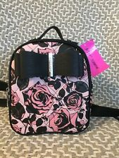 Betsey Johnson Cute Mini Backpack Black And Pink Floral BNWT