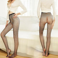 Womens Crystal Rhinestone Fishnet Elastic Stockings Fish Net Tights Hollow out