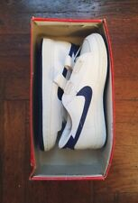 vintage nike vulcan sneakers white / royal blue youth size 3 deadstock NIB  1983