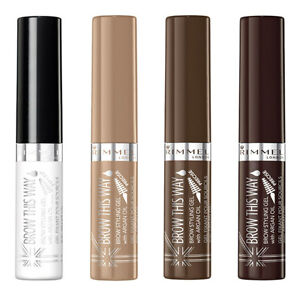 RIMMEL Brow This Way Brow Styling Gel with Argan Oil Eyebrow Mascara ALL SHADES