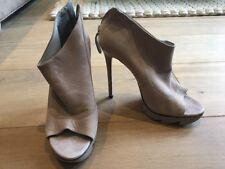 MS Per Una Donna Nero Scarpe con tacco in pelle scamosciata UK 6 EU 39 ottime condizioni