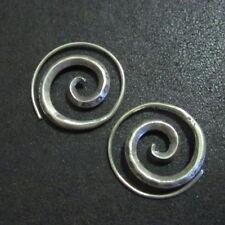 Hill Tribe Fine Sterling Silver Earrings Filigree Spiral Hoop øredobber Aretes