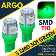 2 x 501 HID LED Xenón Super Verde BOMBILLAS T10 W5W SUPER Luces Laterales SMD