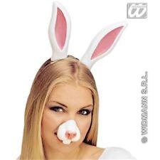 Ali, code, orecchie e nasi bianchi in plastica per carnevale e teatro