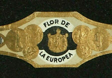 348AM-VITOLA Antigua-Old Cigar Band-Marca FLOR DE LA EUROPEA