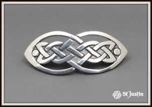 CELTIC OPEN KNOT HAIRSLIDE ~ ST JUSTIN ~ FREE P&P