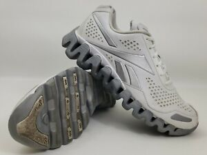 Reebok ZigTech Running Shoes Men Size 8 Athletic Shoes White Leather