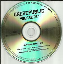 ONEREPUBLIC Secrets w/ RARE RHYTHMIC REMIX TST PRESS PROMO DJ CD Single 2010