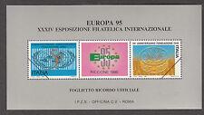 FIERA INTERNAZIONALE FOGLIETTO IPZS NUOVO EUROPA RICCIONE 1995 PACE E LIBERTA'