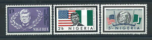 Nigeria N°155/57* (MH) 1964 - John F. Kennedy