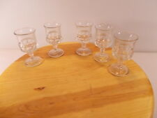 WATERFORD? CRYSTAL CORDIAL GLASS SHERRY COGNAC SHOT FOOTED SET OF 5 STEMWARE