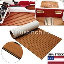 "35""x94"" 0.5cm EVA Foam Teak Sheet Boat Yacht Synthetic Teak Decking With Glue US"