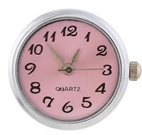 Soft Pink Real Working Watch 20mm Snap Button Charm Jewelry Fits Ginger Snaps