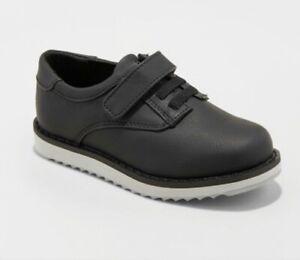 NWT Cat & Jack Toddler Boys Pierre Strap Black Dress Shoes size 11