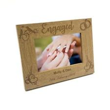 Personalised Engagement Wooden Photo Frame Gift FW167