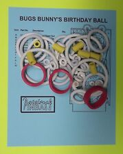 1991 Bally / Midway Bugs Bunny's Birthday Ball pinball rubber ring kit