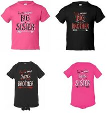 @ Awesome / New Big / Little Brother / Sister Baby Announcement Bodysuit T-Shirt