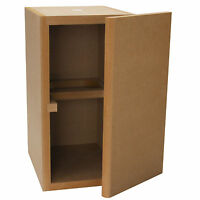 Knock-Down MDF 0.56 ft³ Bookshelf Cabinet