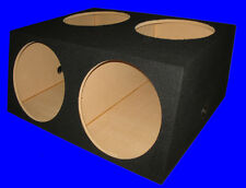 "4 FOUR HOLE 15"" COMPACT BLACK SUBWOOFER SUB SPEAKER ENCLOSURE BOX"