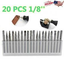 20pcs 18 Inch Rotary Drill Bits Milling Die Grinder Tungsten Carbide Burr File