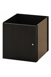 "IKEA KALLAX Insert with Door Black Brown Fits Expedit 13x13"" NEW"