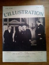 L'ILLUSTRATION N°4807 20 AVRIL 1935 P LAVAL - MUSSOLINI - MAC DONALD A STRESA