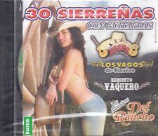 Los Vagos Requinto Vaquero  Los Autenticos 30 Siereenas Con Guitarras CD New