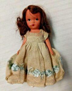 "Vintage Nancy Ann Storybook Bisque FLOWER GIRL Doll  4 1/2"""