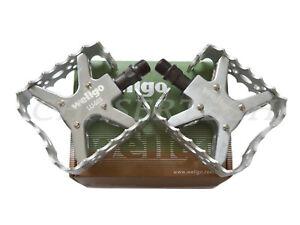 "Wellgo LU-953 BMX Bicycle Bike Bear Trap Style Pedals 9/16"" Silver"