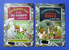 Lot of 2 Commander Toad PB Books Dis-Asteroid + Big Black Hole Jane Yolen