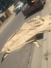 Used 2 man Troop Tan Sand Cargo Cover for HMMWV M998 Cargo Cover Only!