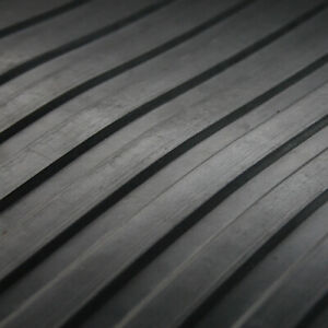 RUBBER FLOORING MATTING WIDE RIBBED STYLE ANTI SLIP COMMERCIAL 1.3m x 3mm