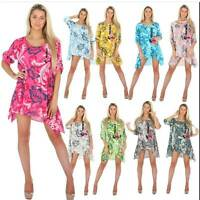 Ladies Quirky Foral Print Lagenlook Aline
