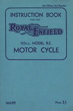 1949 ROYAL ENFIELD 125 CC MOTOR CYCLES OWNER'S MANUAL BETRIEBSANLEITUNG ENGLISCH