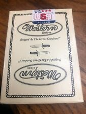 Vintage Western Knives Advertising Poker Size  Playing Cards New In Box